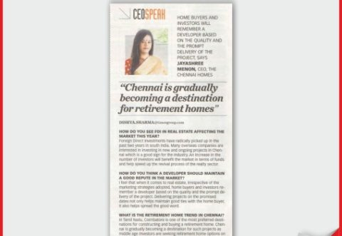 Leading retirement communities Chennai